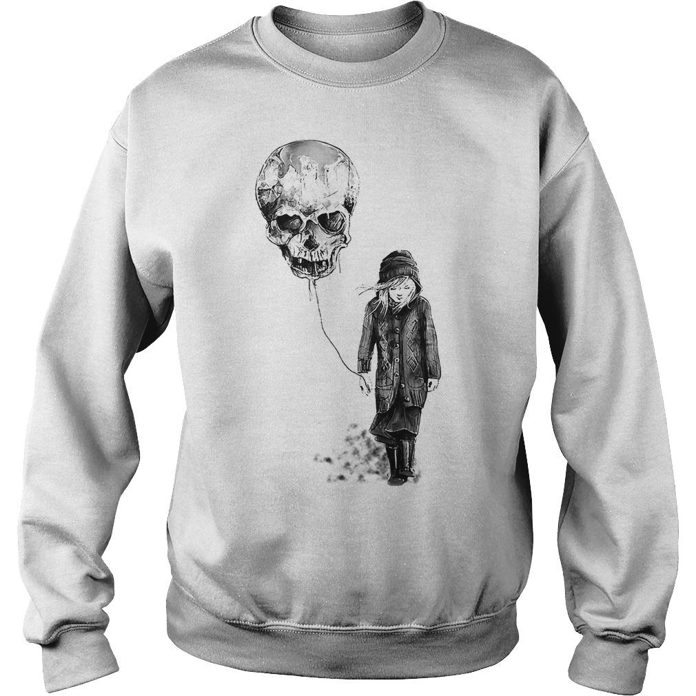 Nice girl with skull balloon Sweater