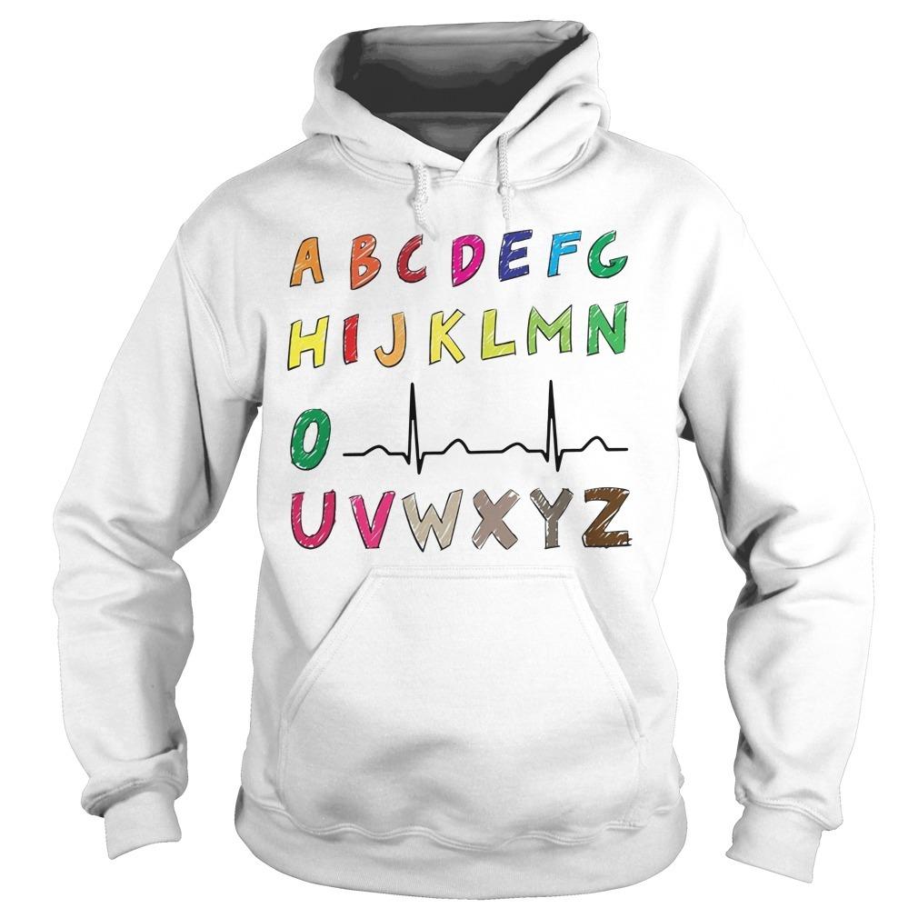 Nurse alphabet heartbeat Hoodie
