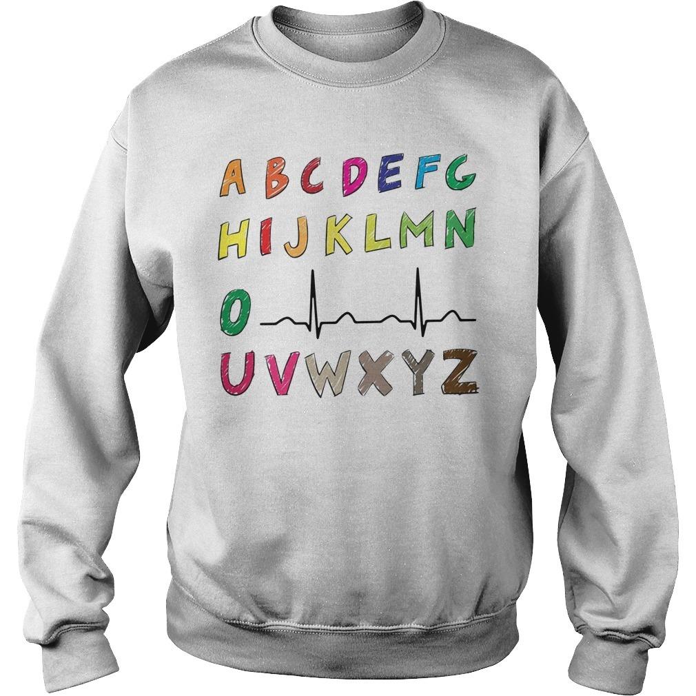 Nurse alphabet heartbeat Sweater