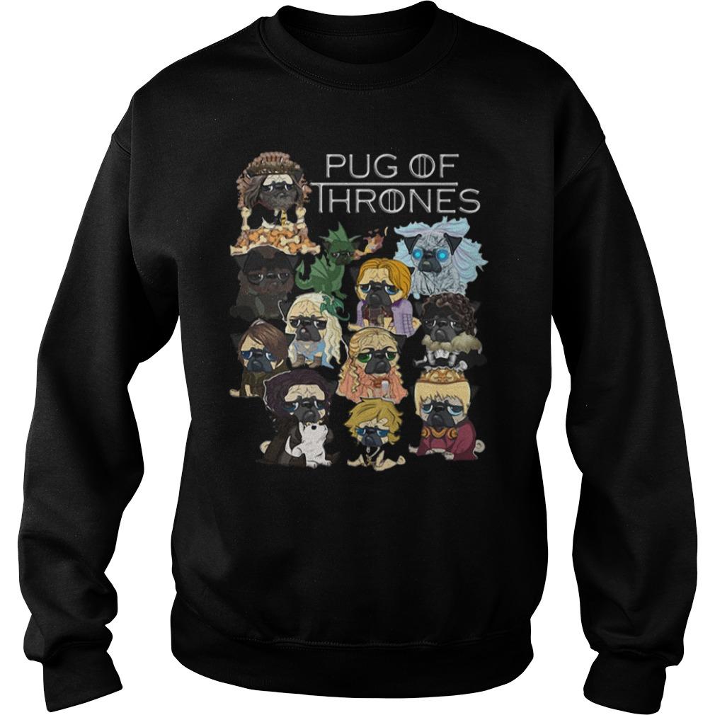 Pug Game of Thrones Guy V-Neck