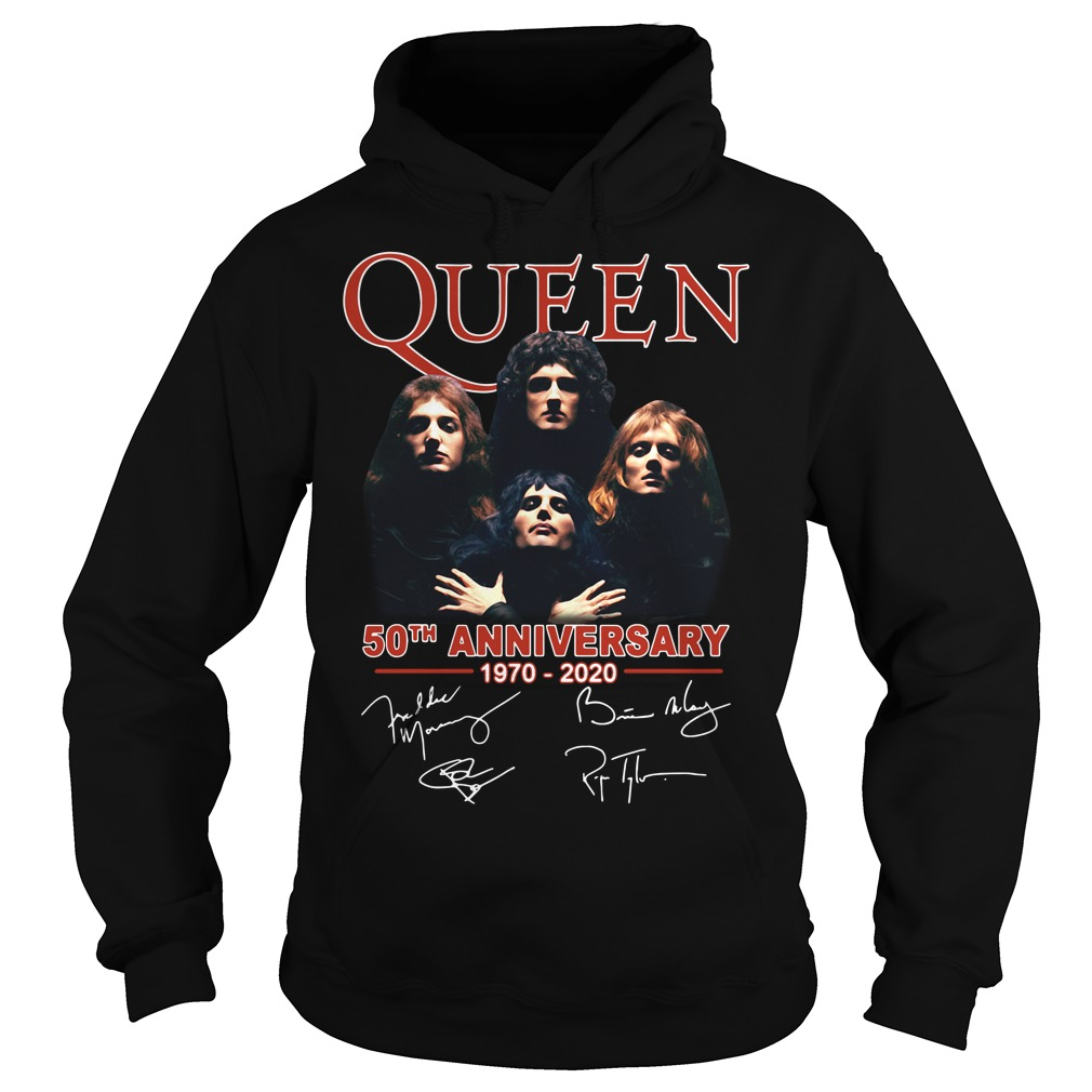 Queen 50th anniversary 1970-2020 signature Hoodie