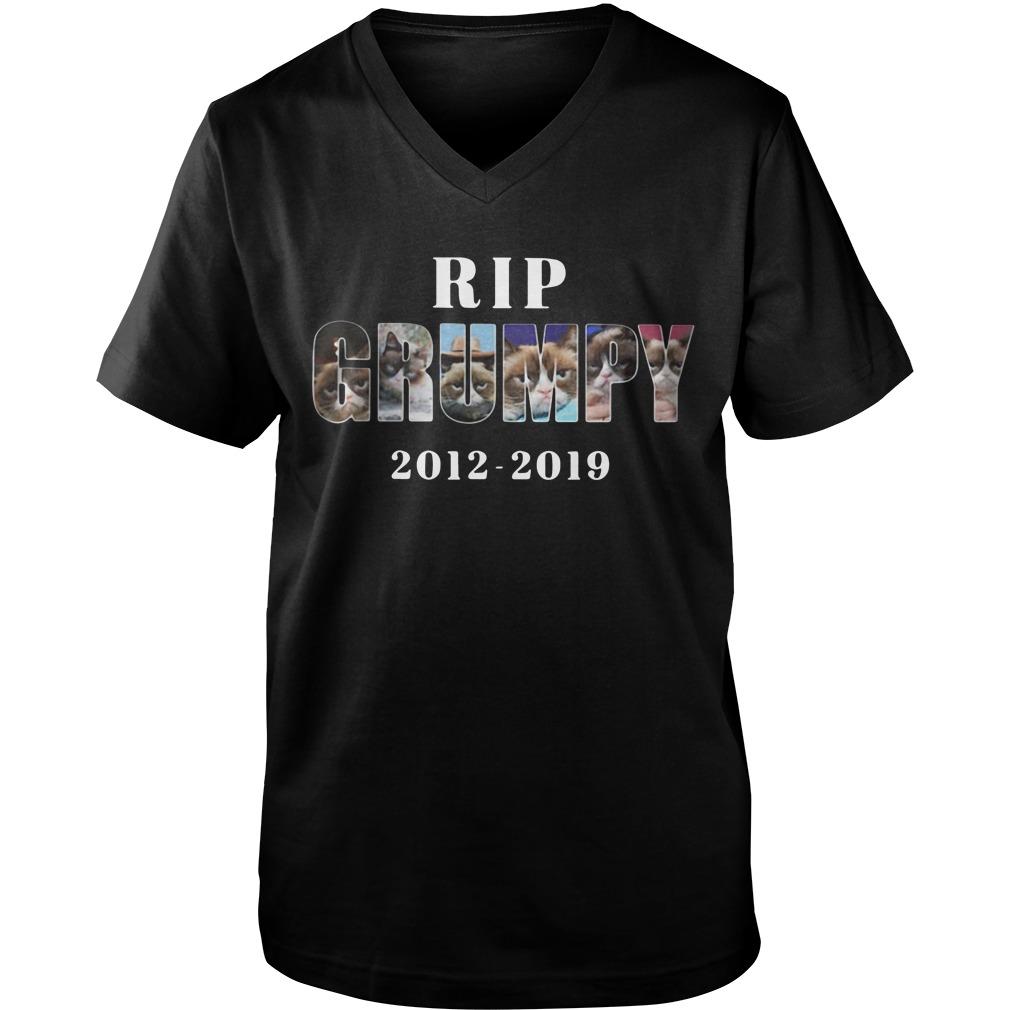 Rip Grumpy cat 2012-2019 Guy V-Neck