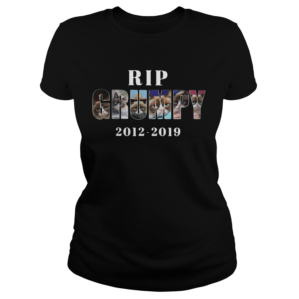 Rip Grumpy cat 2012-2019 Ladies Tee