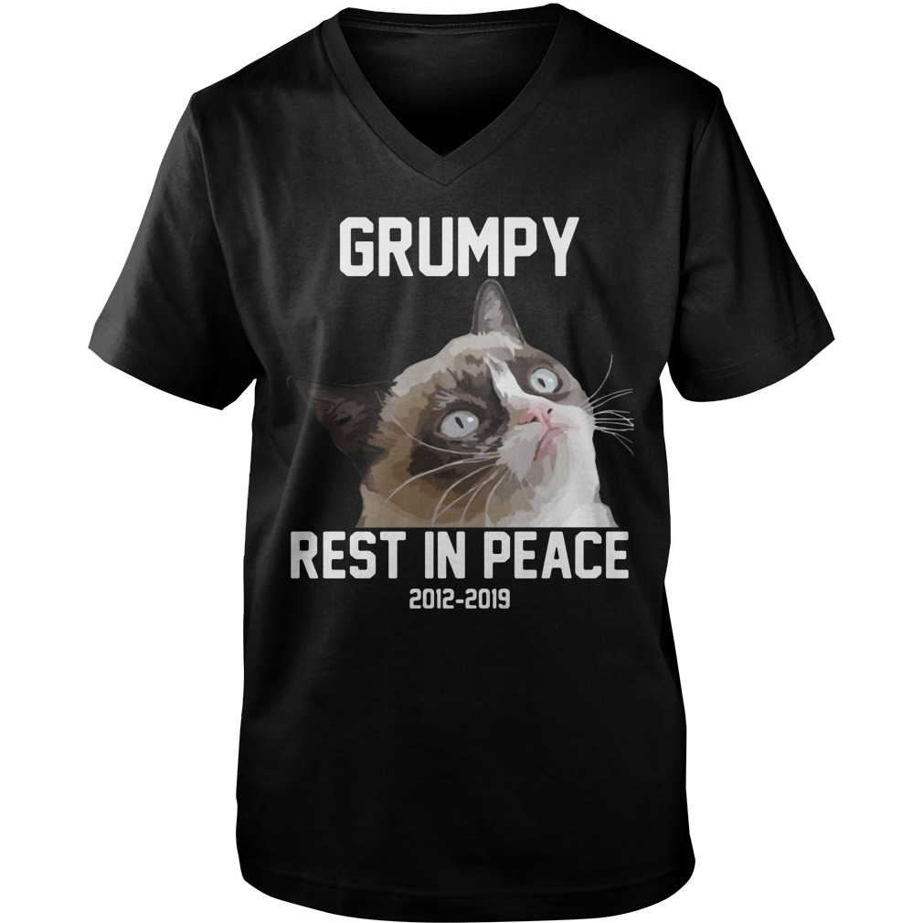 RIP Grumpy cat 2012-2019 rest in peace Guy V-Neck