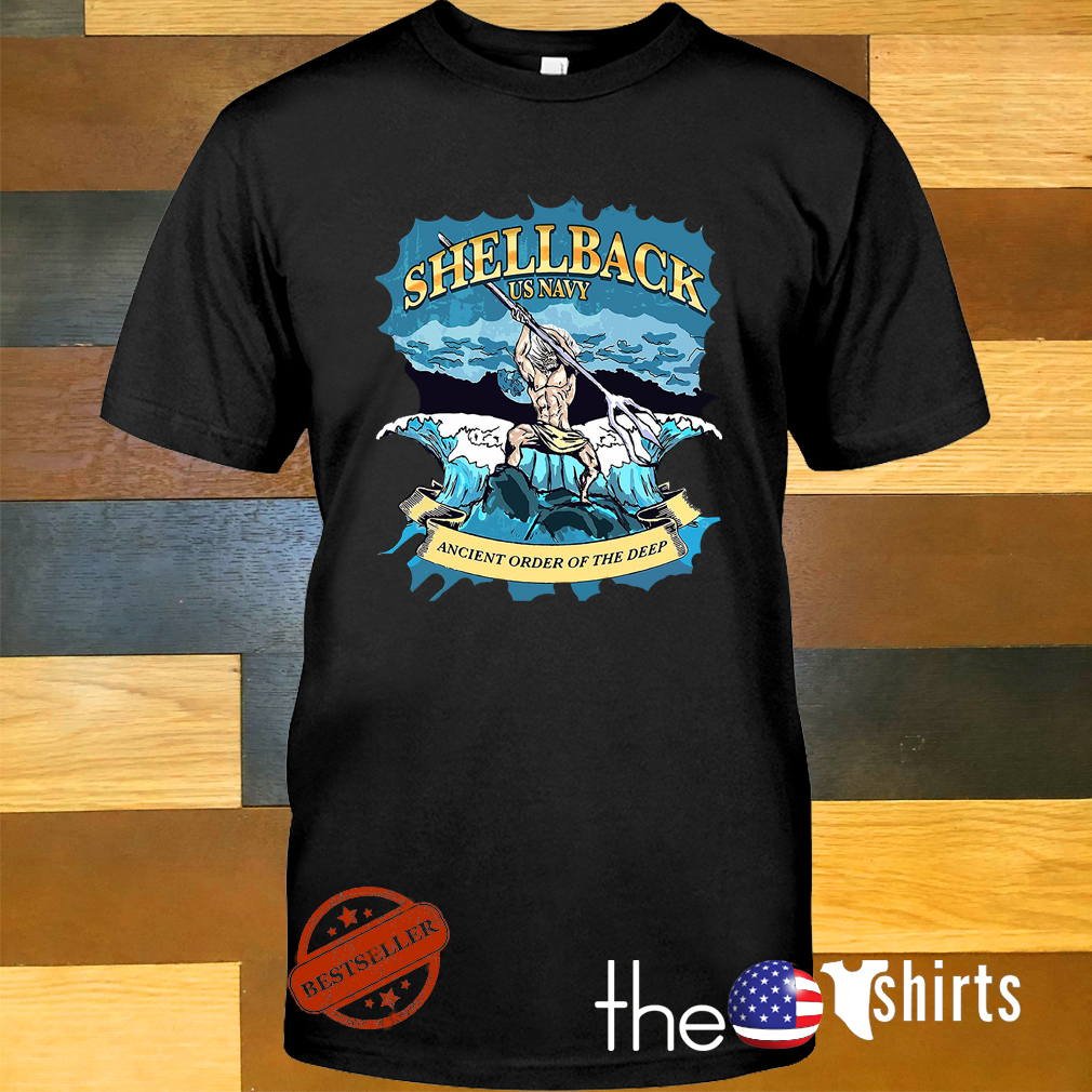Shellback US Navy ancient order of the deep shirt