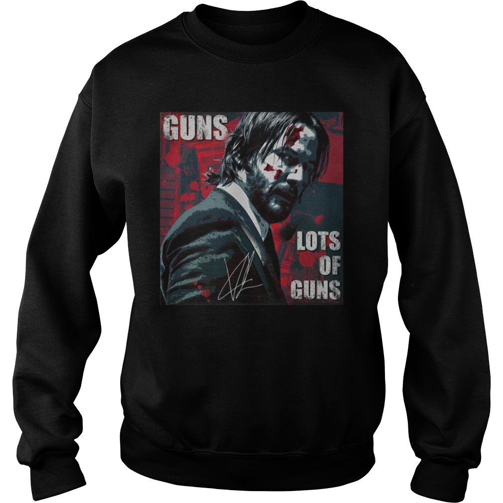 Signature of John Wick guns lots of guns Sweater