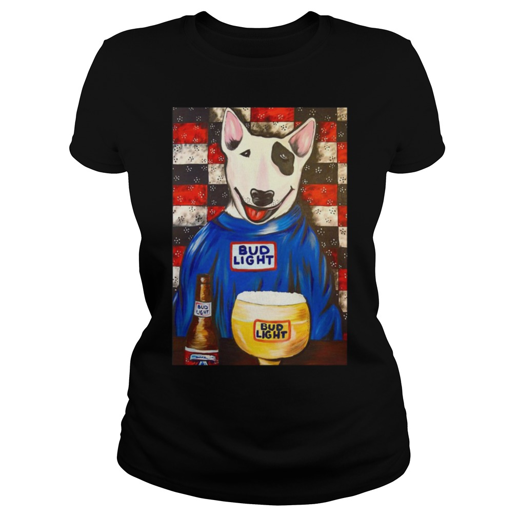 Spuds Mackenzie Bud Light bar Ladies Tee