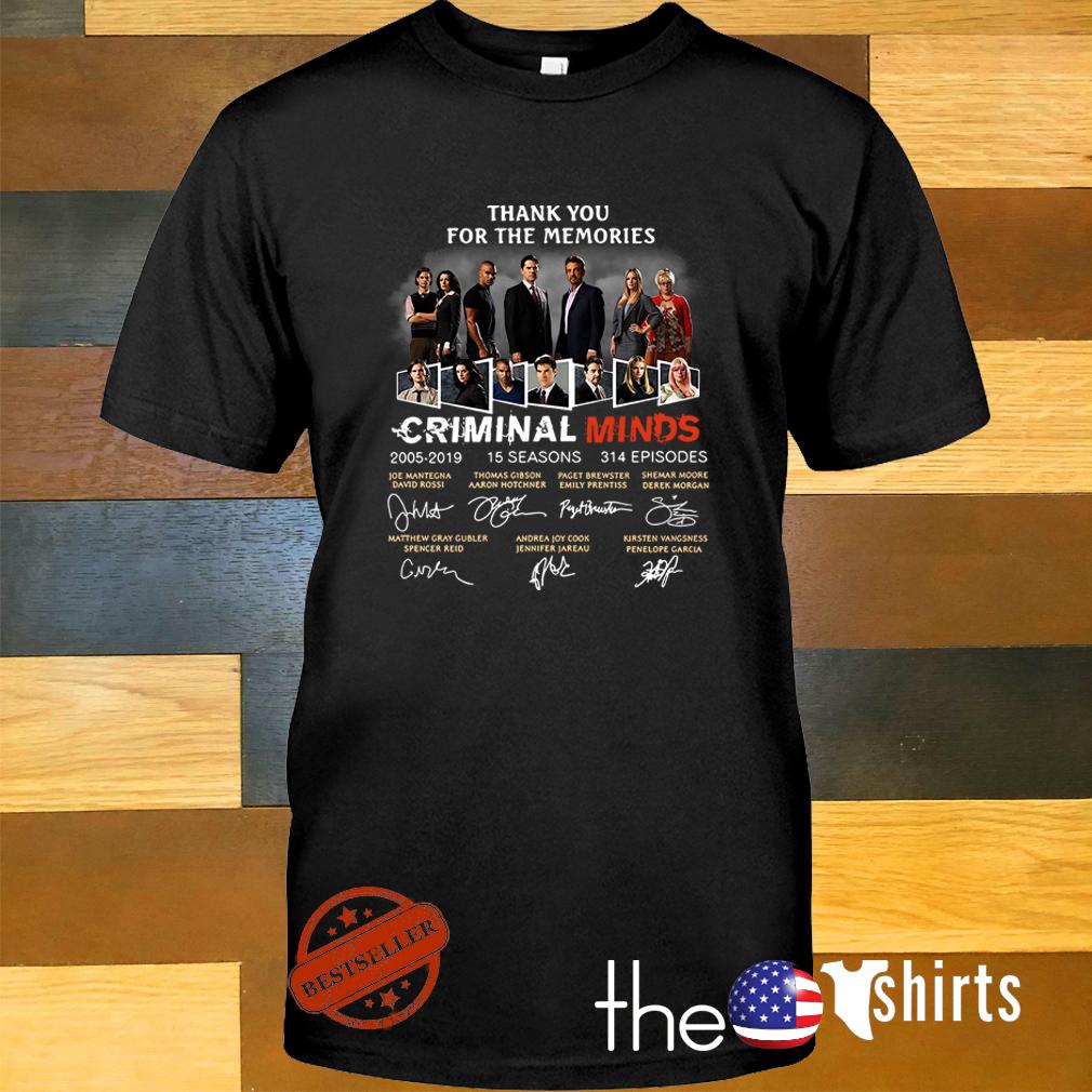 Thank you for the memories Criminal Minds 2005-2019 signature shirt