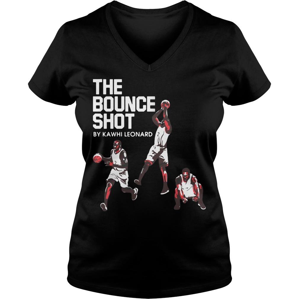 The bounce shot by Kawhi Leonard V-neck T-shirt