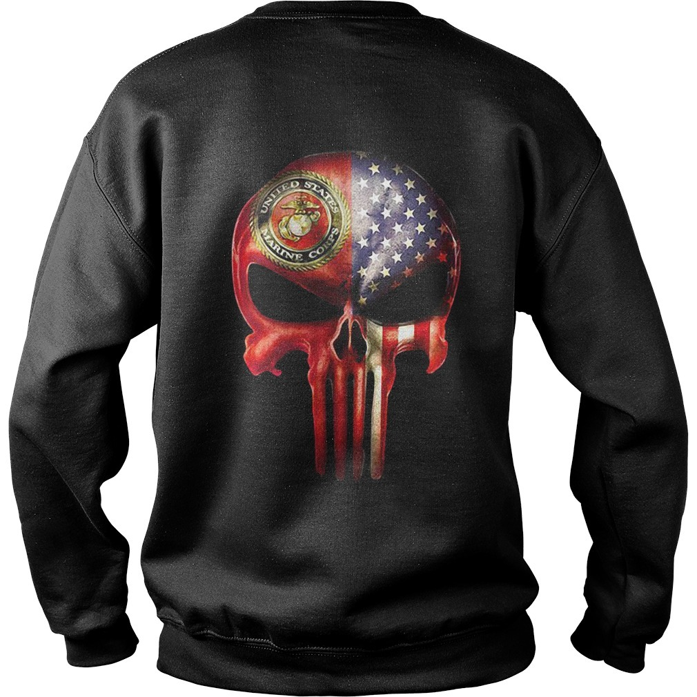 U.S. Marine skull and American flag all over Sweater