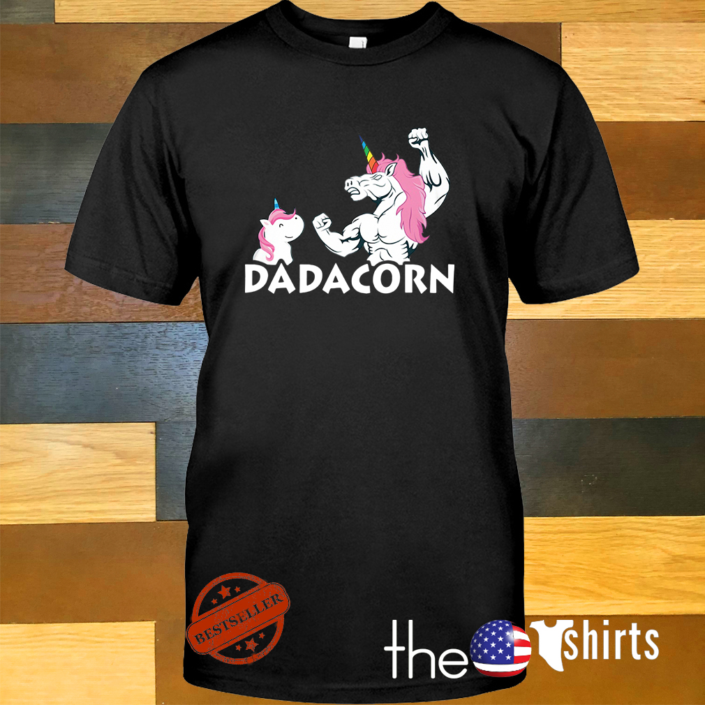 Unicorn Dadacorn dad and baby father's day shirt