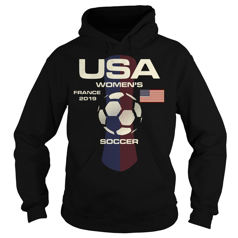 USA women's France 2019 soccer Hoodie