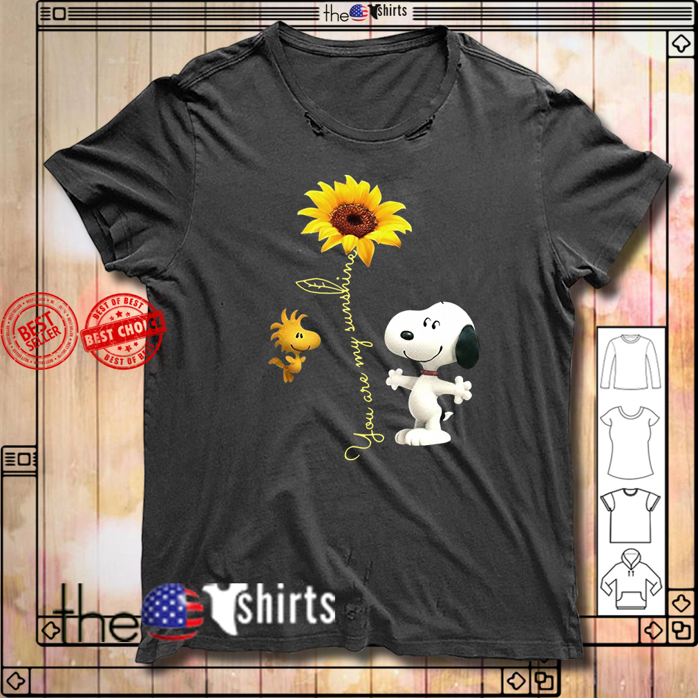 Snoopy and woodstock sunflower you are my sunshine shirt