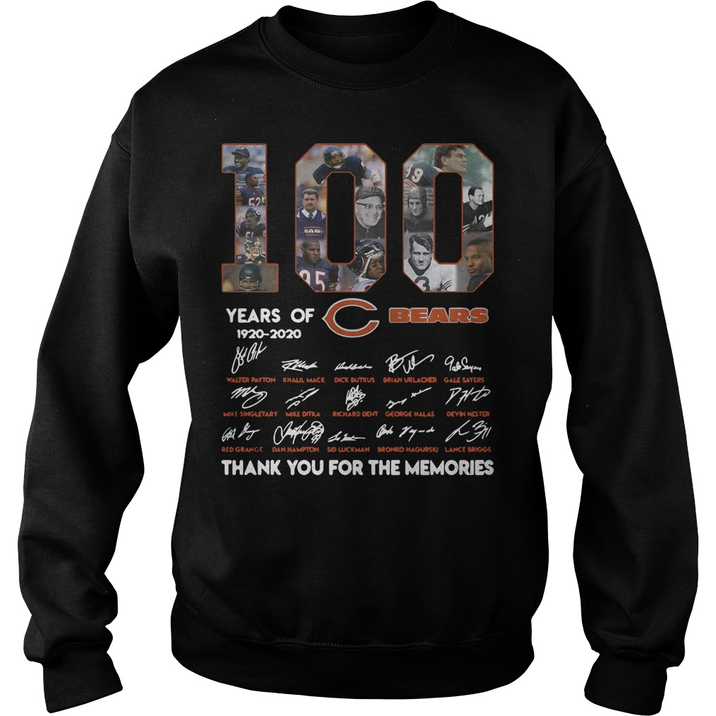 100 Years of Chicago Bears 1920-2020 signature Sweater
