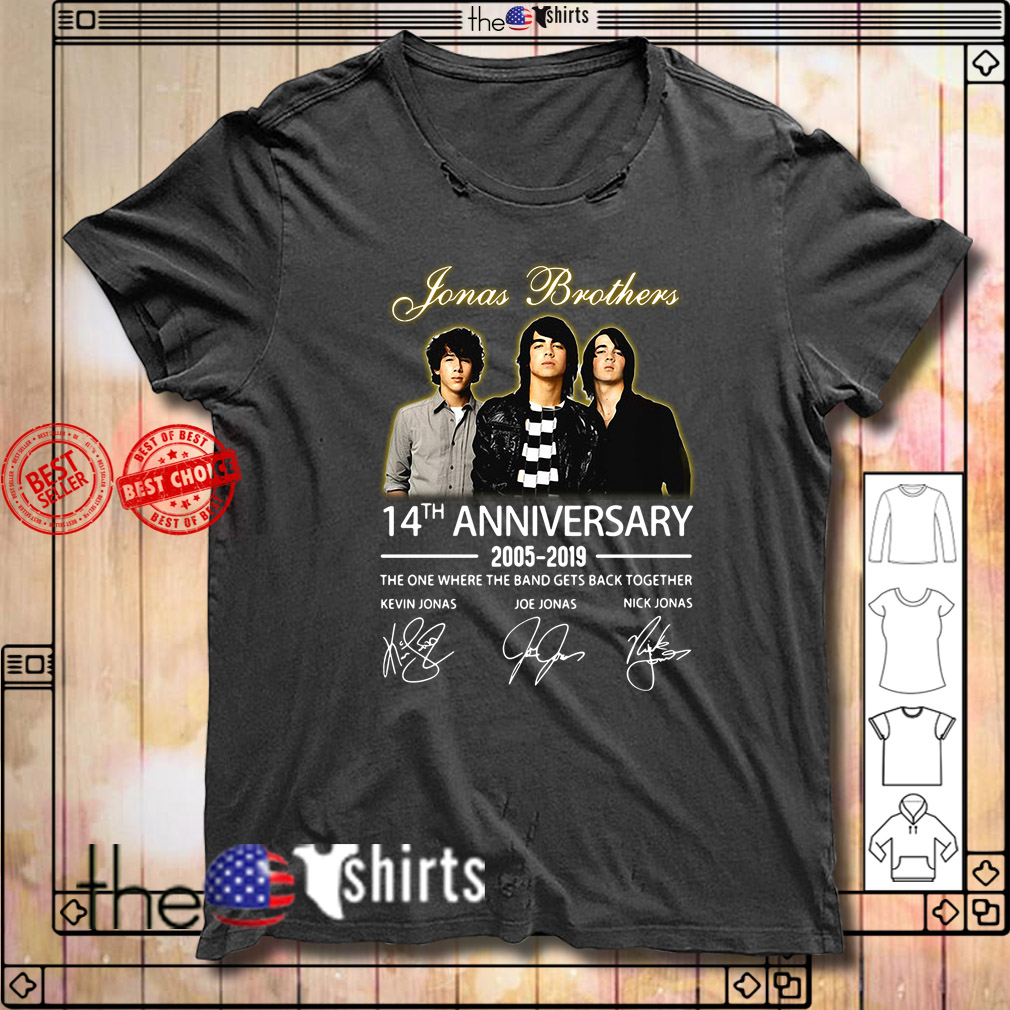 Jonas Brothers 14th anniversary 2005-2019 signature shirt