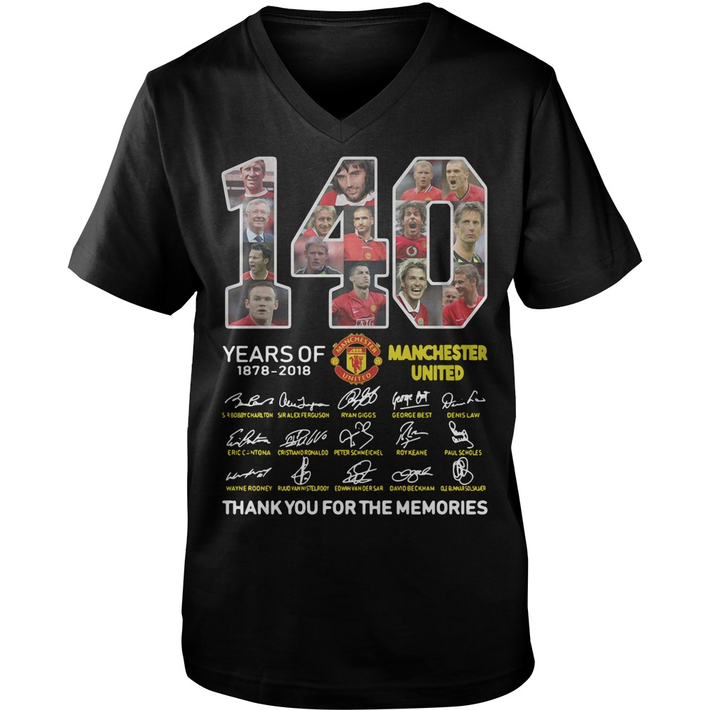 140 Years of Manchester United 1878-2018 signature Guy V-Neck