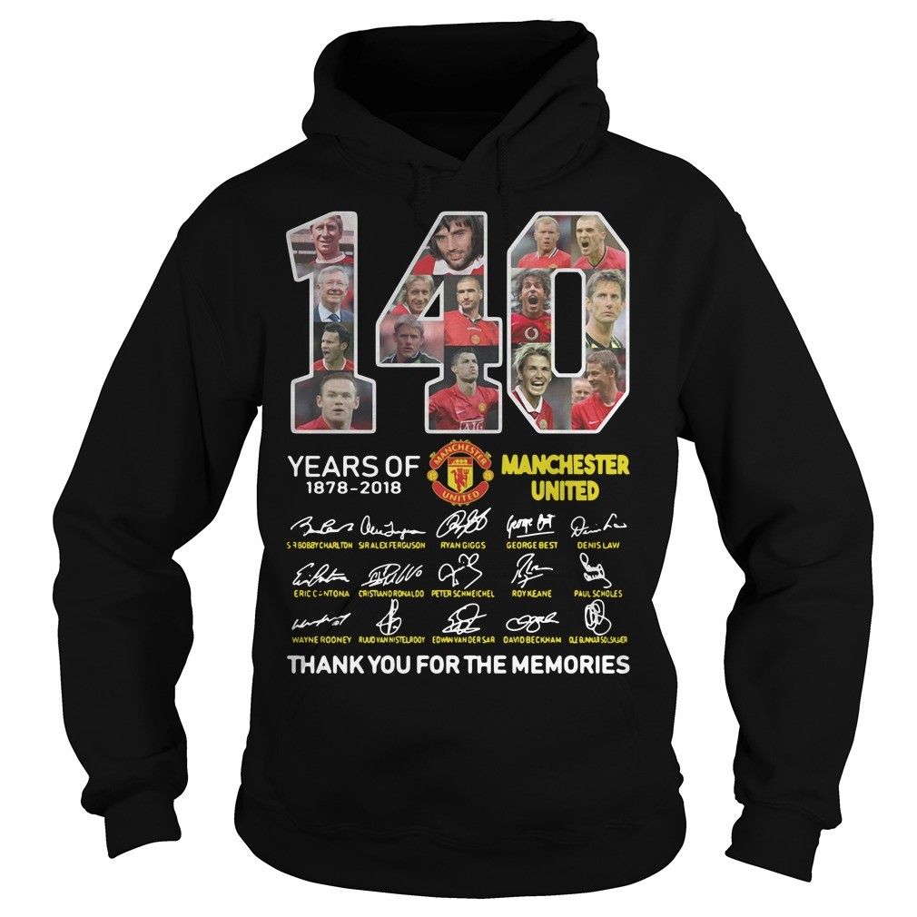 140 Years of Manchester United 1878-2018 signature Hoodie