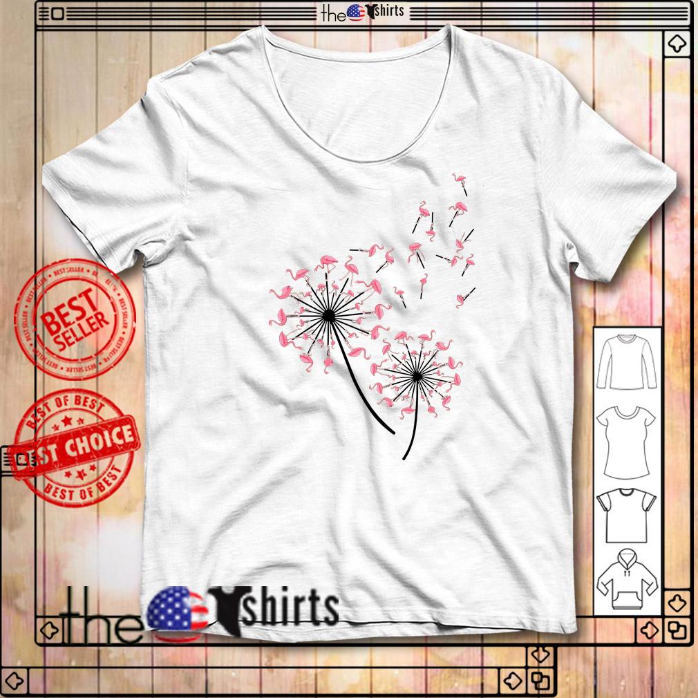 Flamingos flower shirt