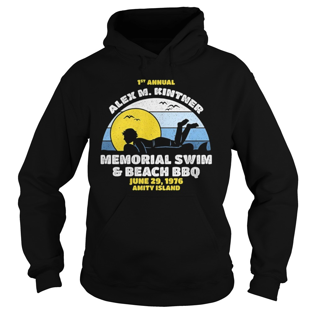 1st Annual Alex M. Kintner memorial swim and beach BBQ sunset Hoodie