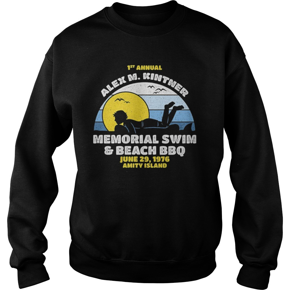 1st Annual Alex M. Kintner memorial swim and beach BBQ sunset Sweater