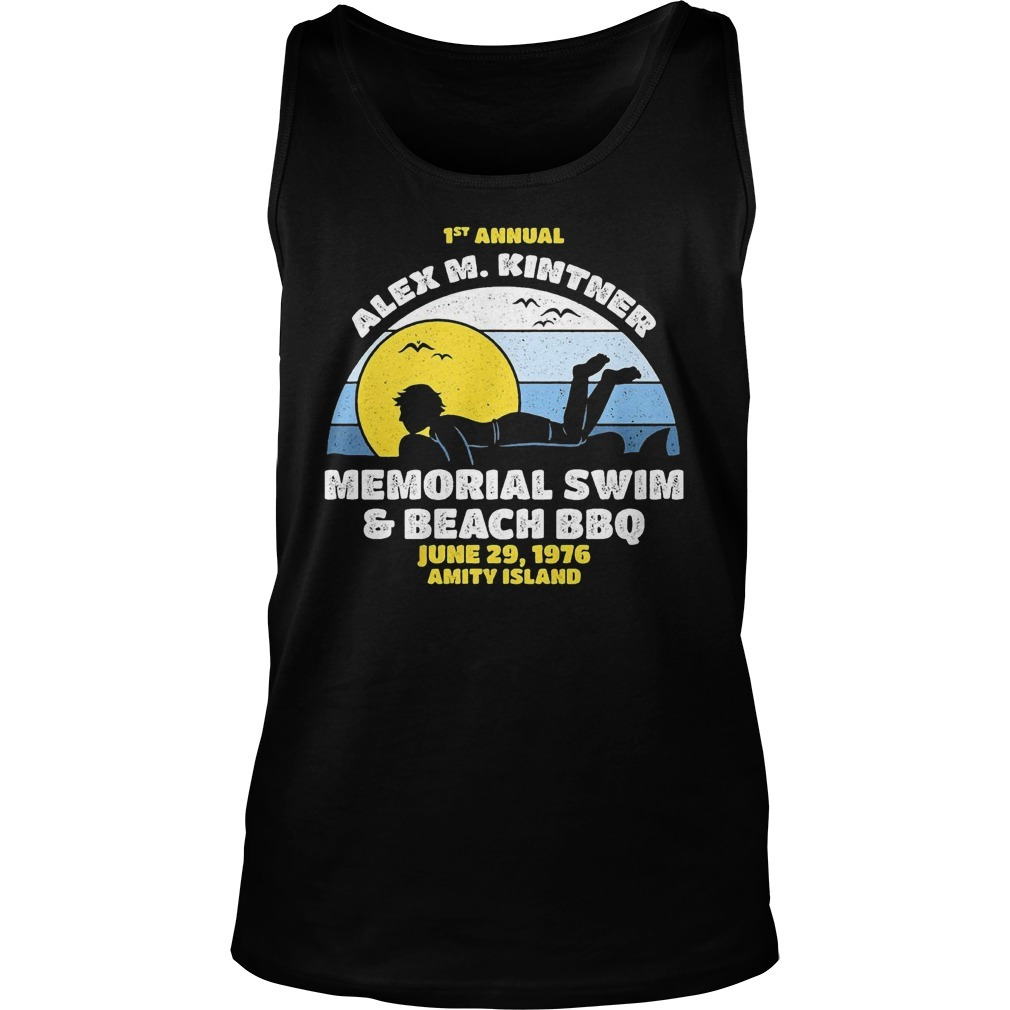 1st Annual Alex M. Kintner memorial swim and beach BBQ sunset Tank top