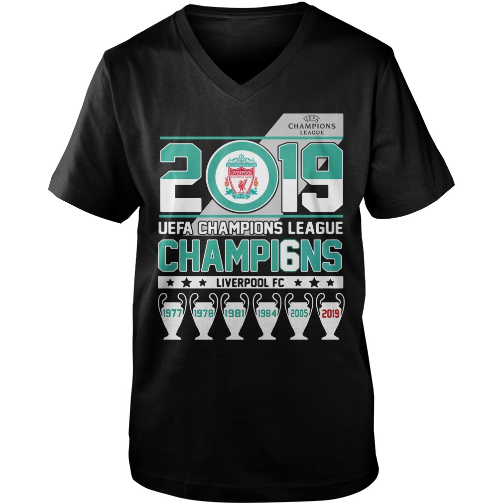 2019 UEFA Champions League Champions Liverpool FC Guy V-Neck