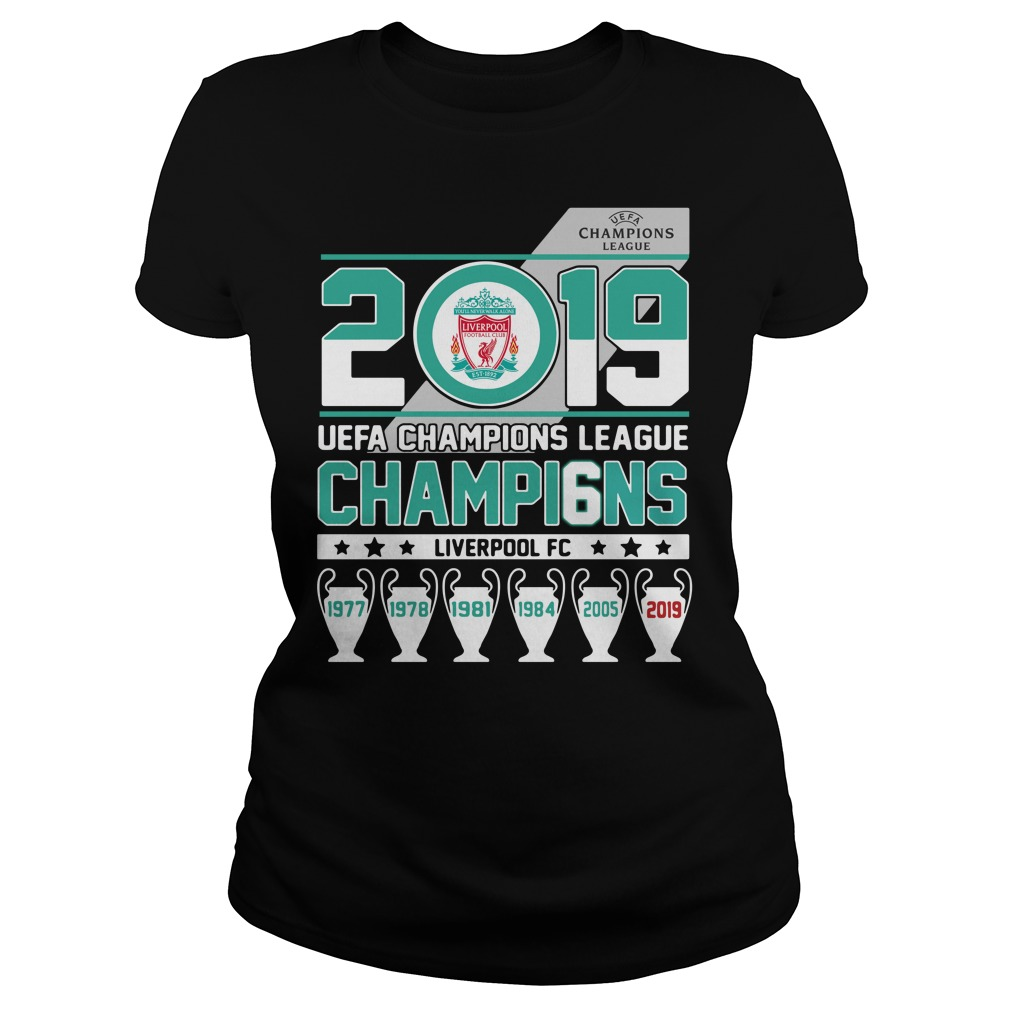 2019 UEFA Champions League Champions Liverpool FC Ladies Tee