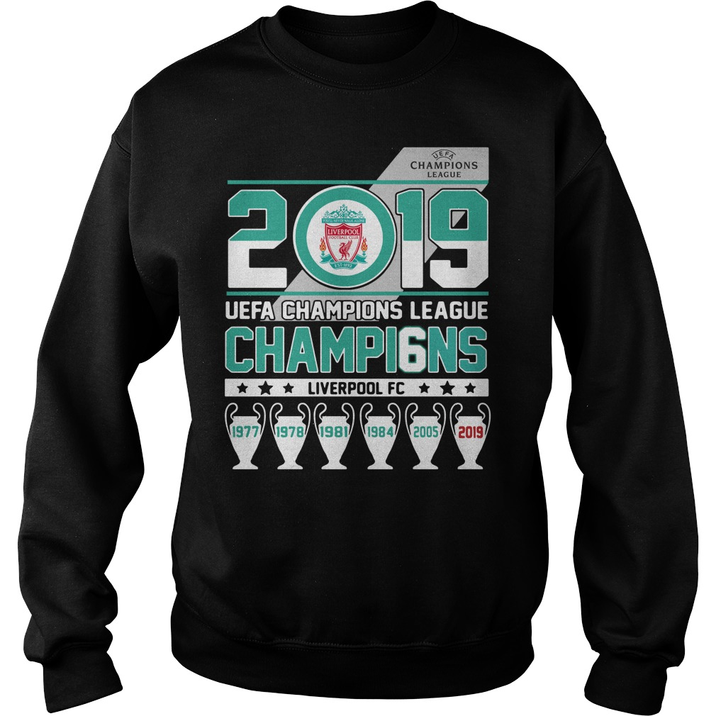2019 UEFA Champions League Champions Liverpool FC Sweater