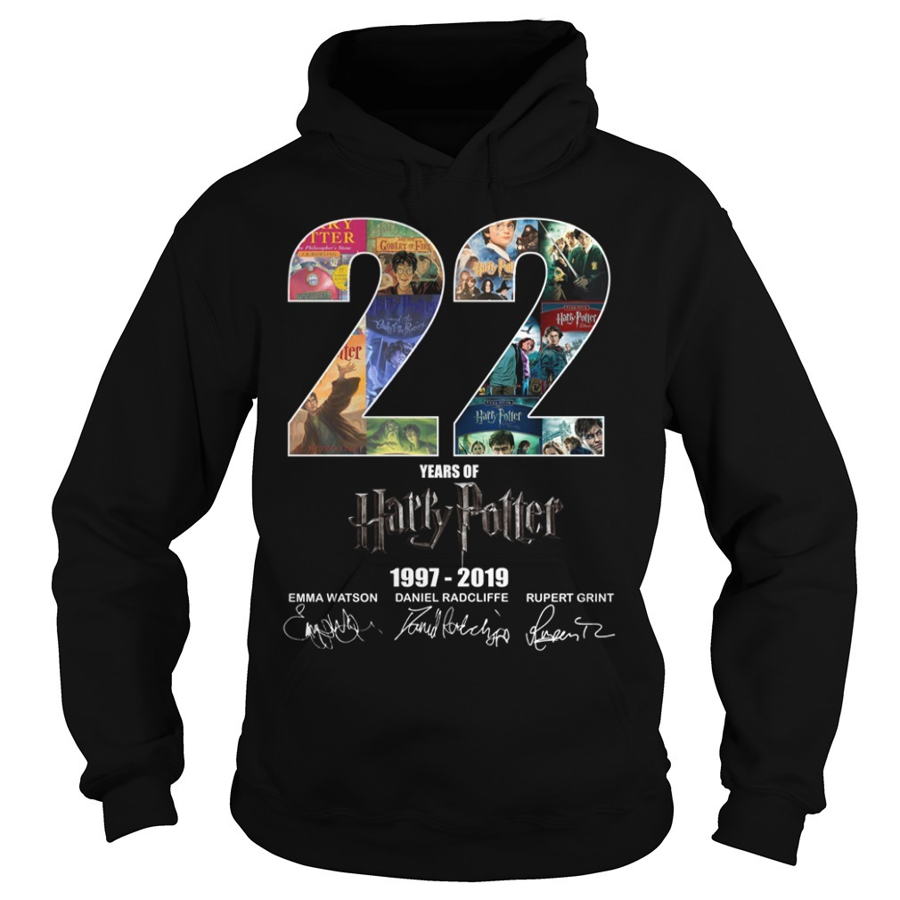 22 Year of Harry Potter 1997-2019 signature Hoodie