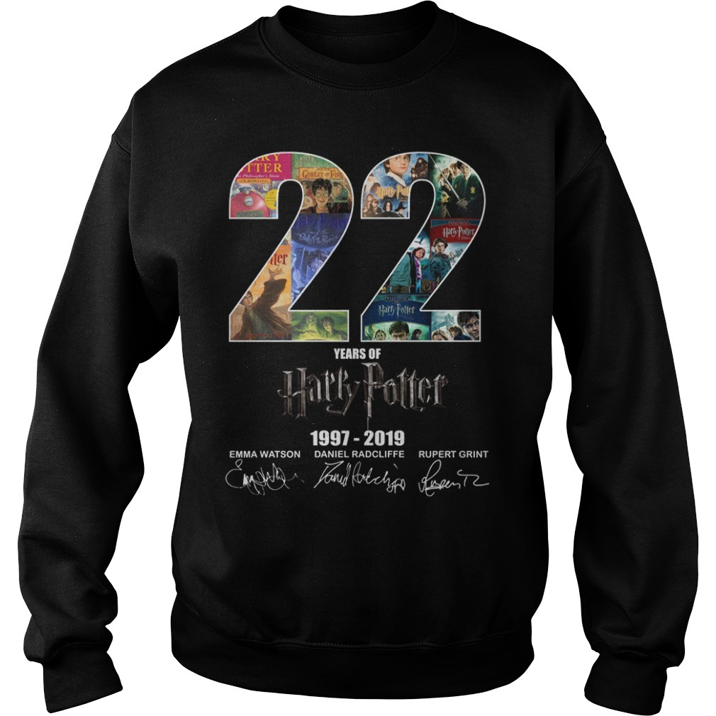 22 Year of Harry Potter 1997-2019 signature Sweater