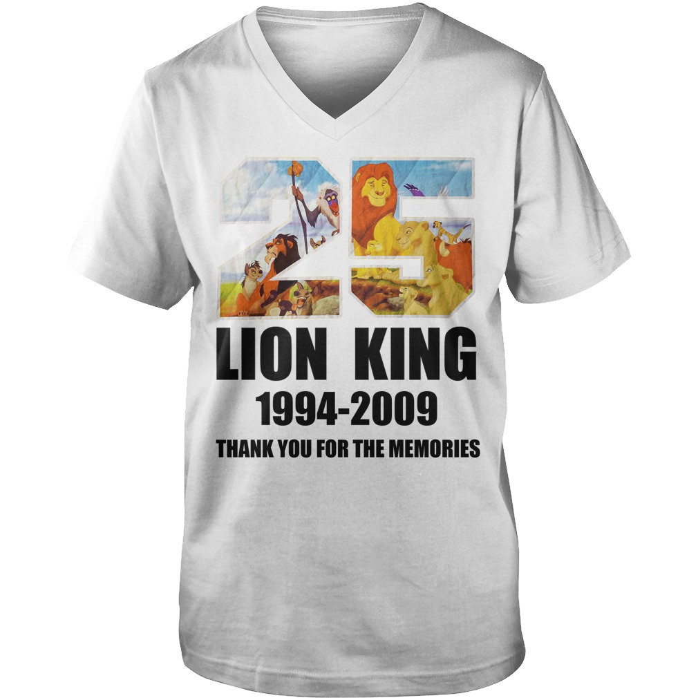 25 Years of Lion King 1994-2019 thank you for the memories Guy V-Neck