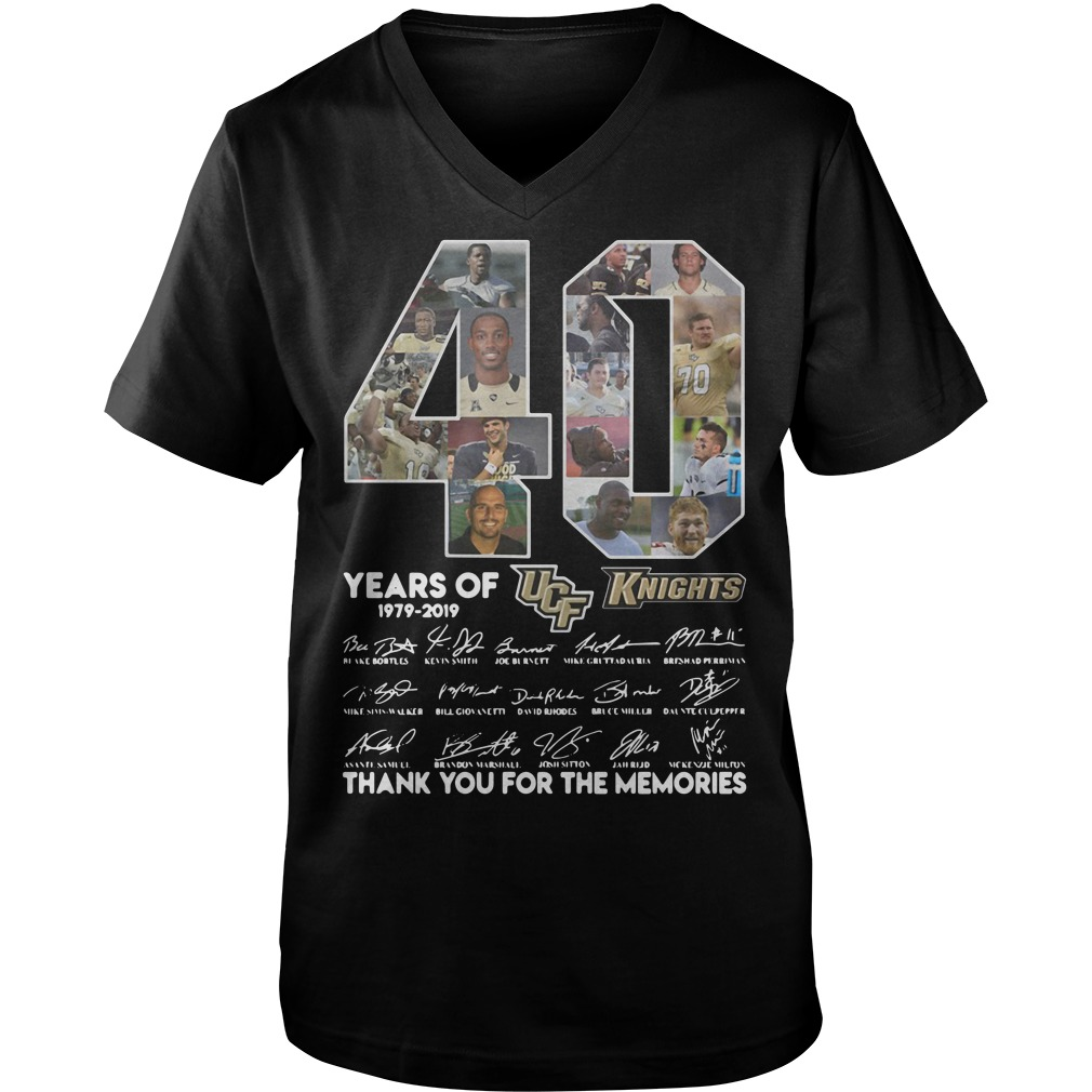 40 Years of UCF Knights 1979-2019 signature Guy V-Neck