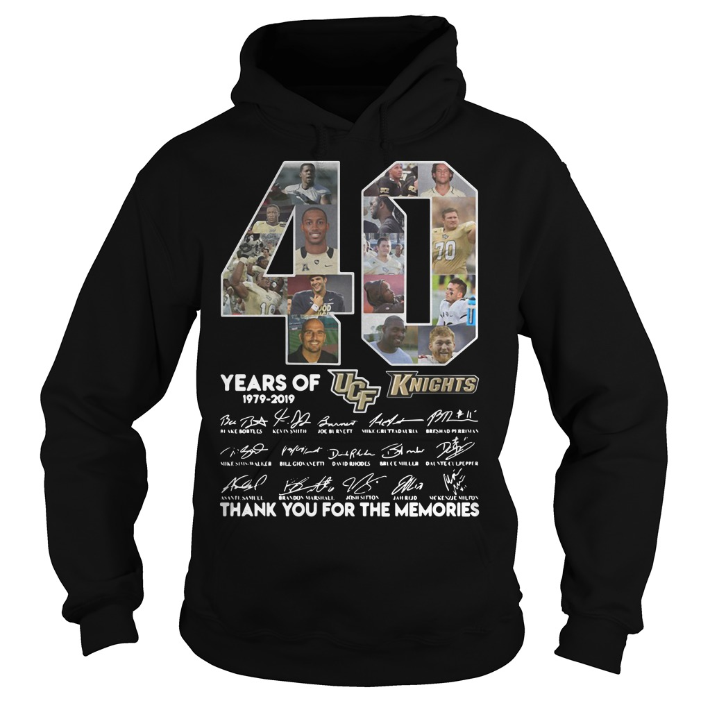 40 Years of UCF Knights 1979-2019 signature Hoodie