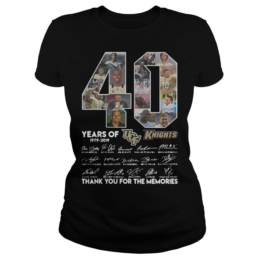 40 Years of UCF Knights 1979-2019 signature Ladies Tee