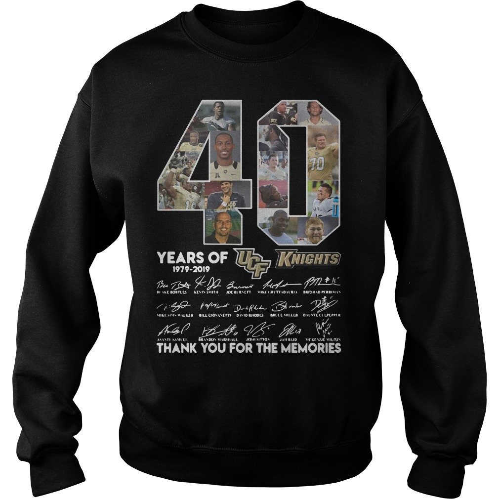 40 Years of UCF Knights 1979-2019 signature Sweater