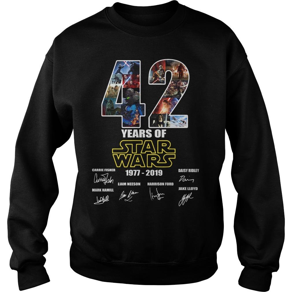 42 Years of Star Wars 1977-2019 signature Sweater