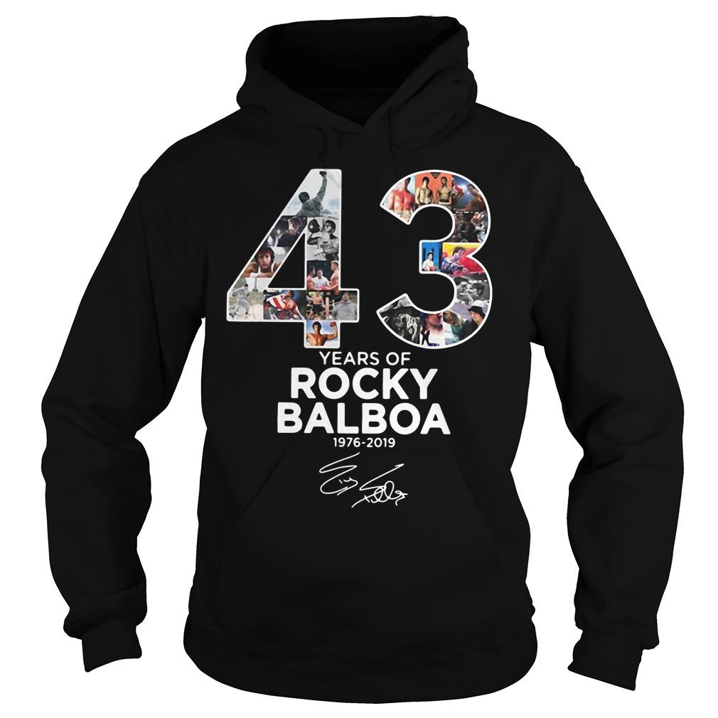 43 Years of Rocky Balboa 1976-2019 signature Hoodie