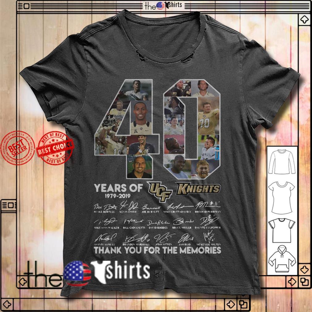 40 Years of UCF Knights 1979-2019 signature shirt