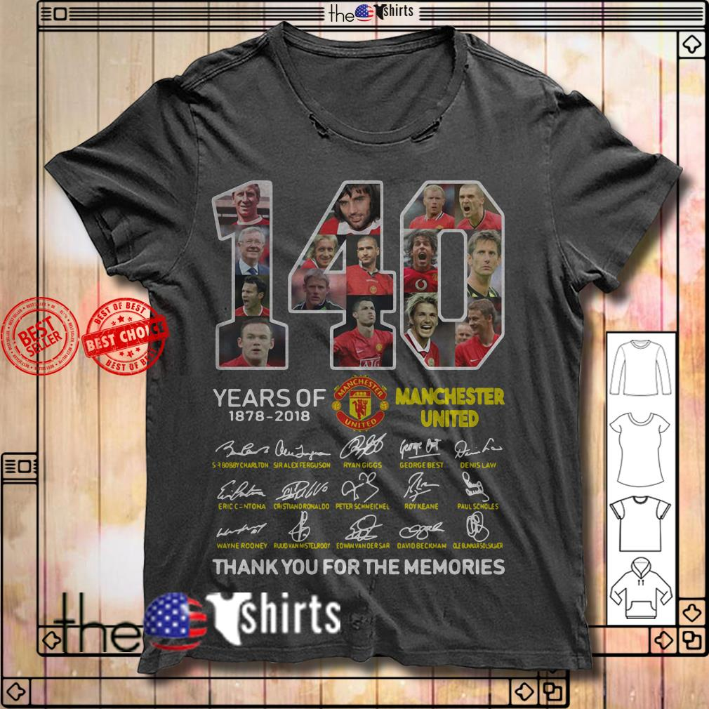 140 Years of Manchester United 1878-2018 signature shirt