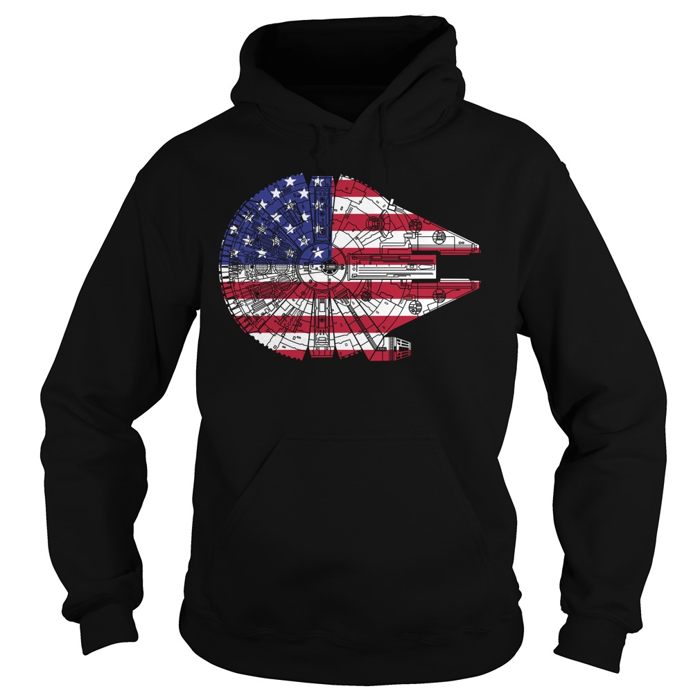 4th Of July Star Wars Millennium Falcon United States flag Hoodie