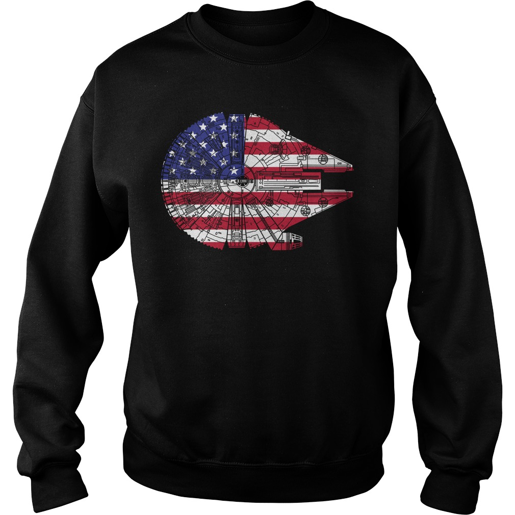 4th Of July Star Wars Millennium Falcon United States flag Sweater