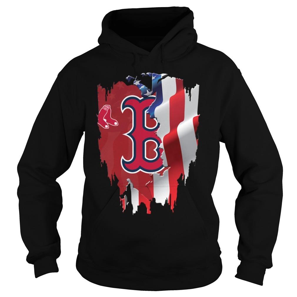 4th Of July Boston Red Sox  America flag Hoodie