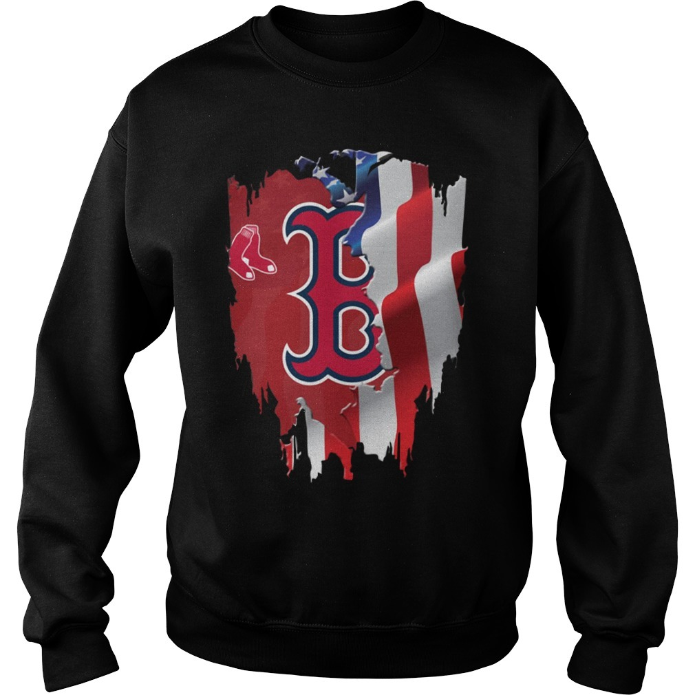 4th Of July Boston Red Sox  America flag Sweater