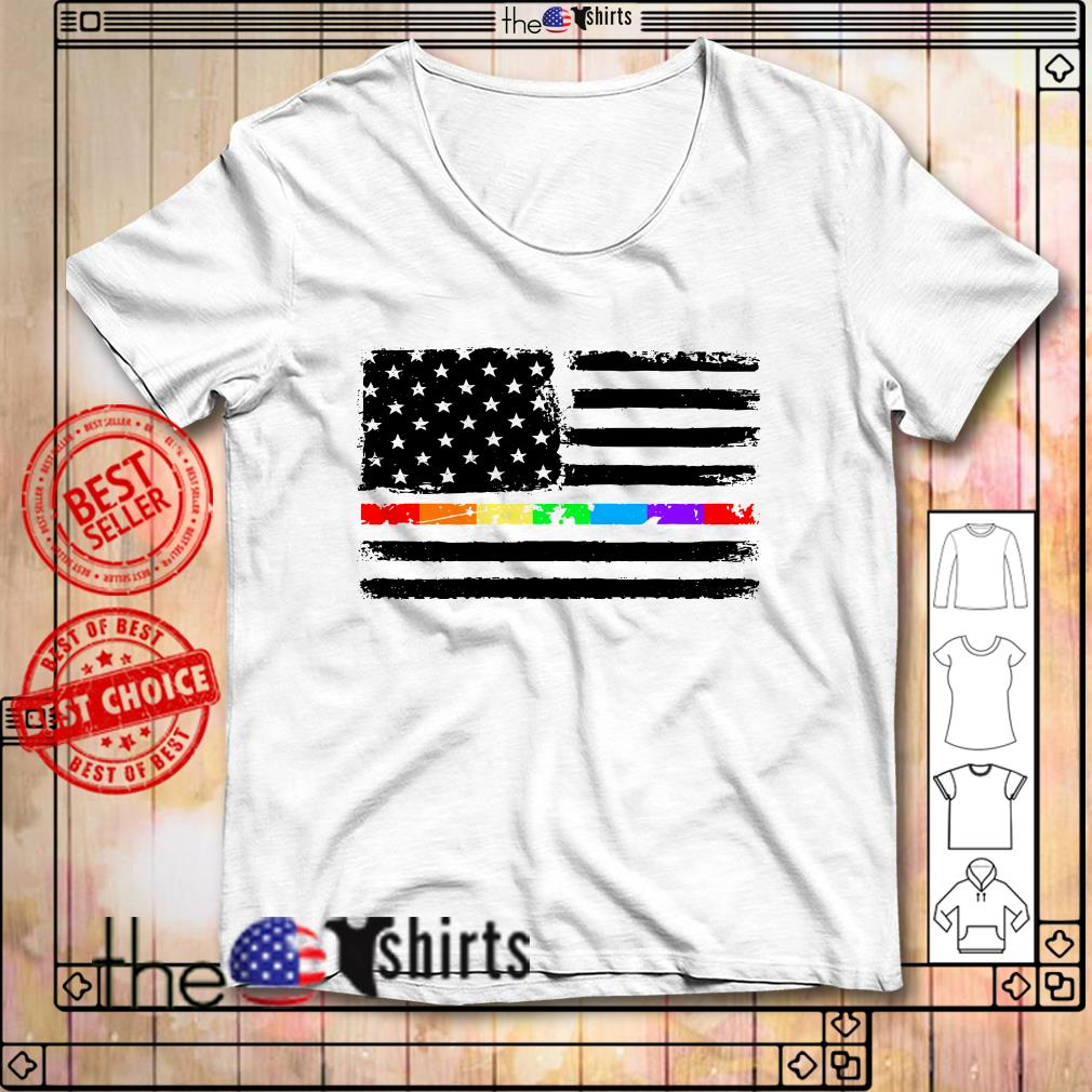 4th Of July independence day America flag LGBT shirt