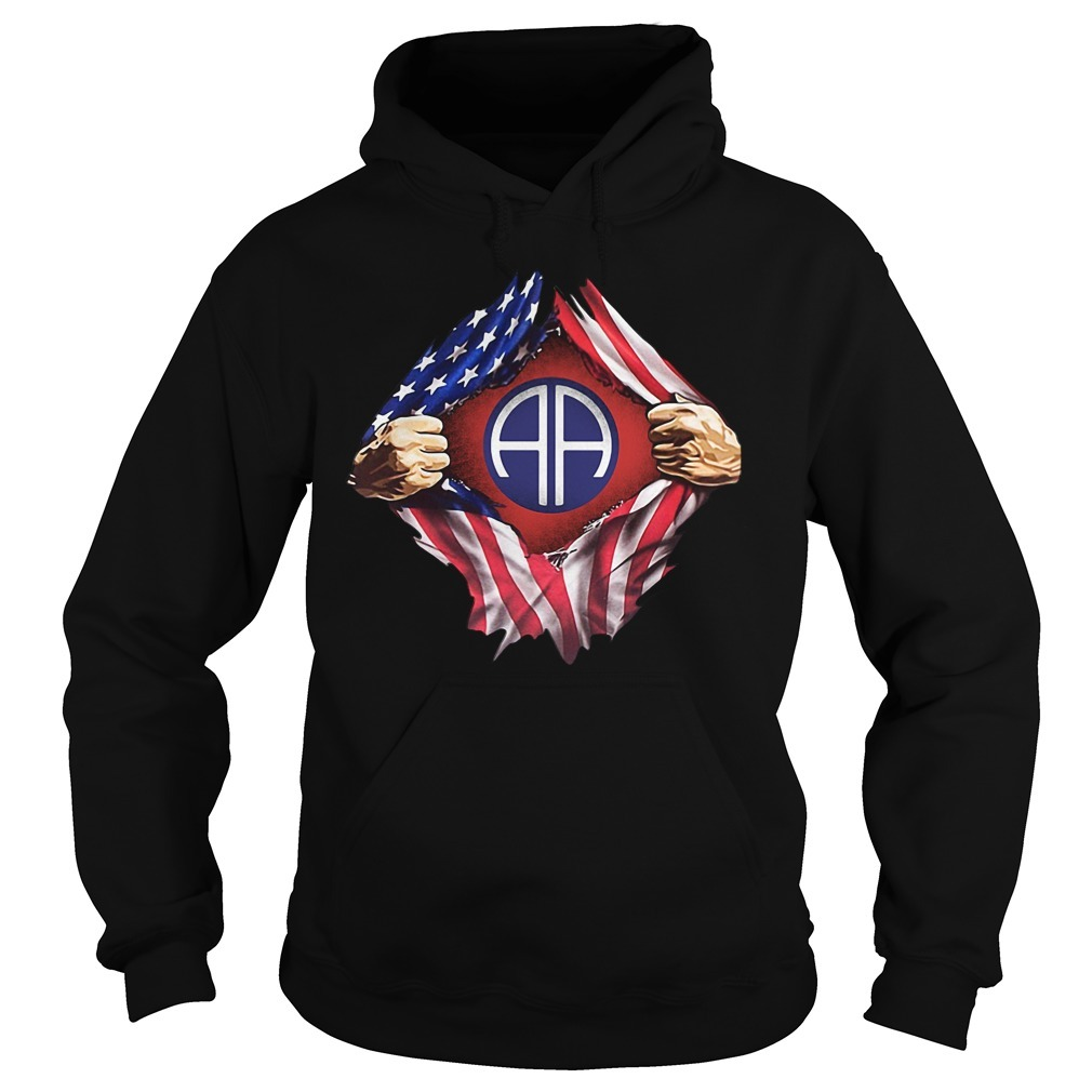 4th Of July independence day Army Airborne blood inside me Hoodie