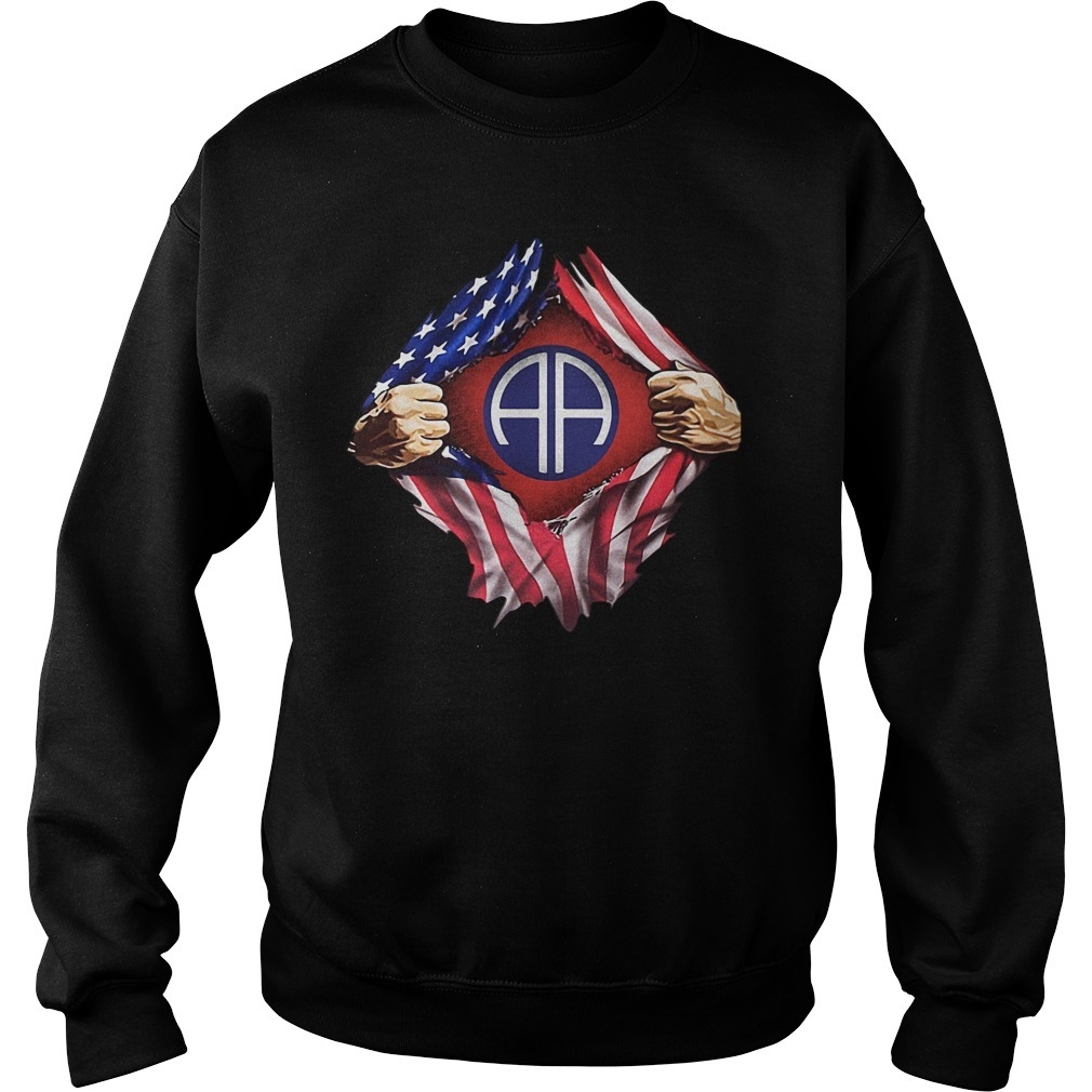 4th Of July independence day Army Airborne blood inside me Sweater