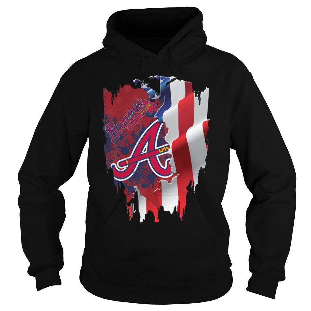 4th of July independence day Atlanta Braves Hoodie