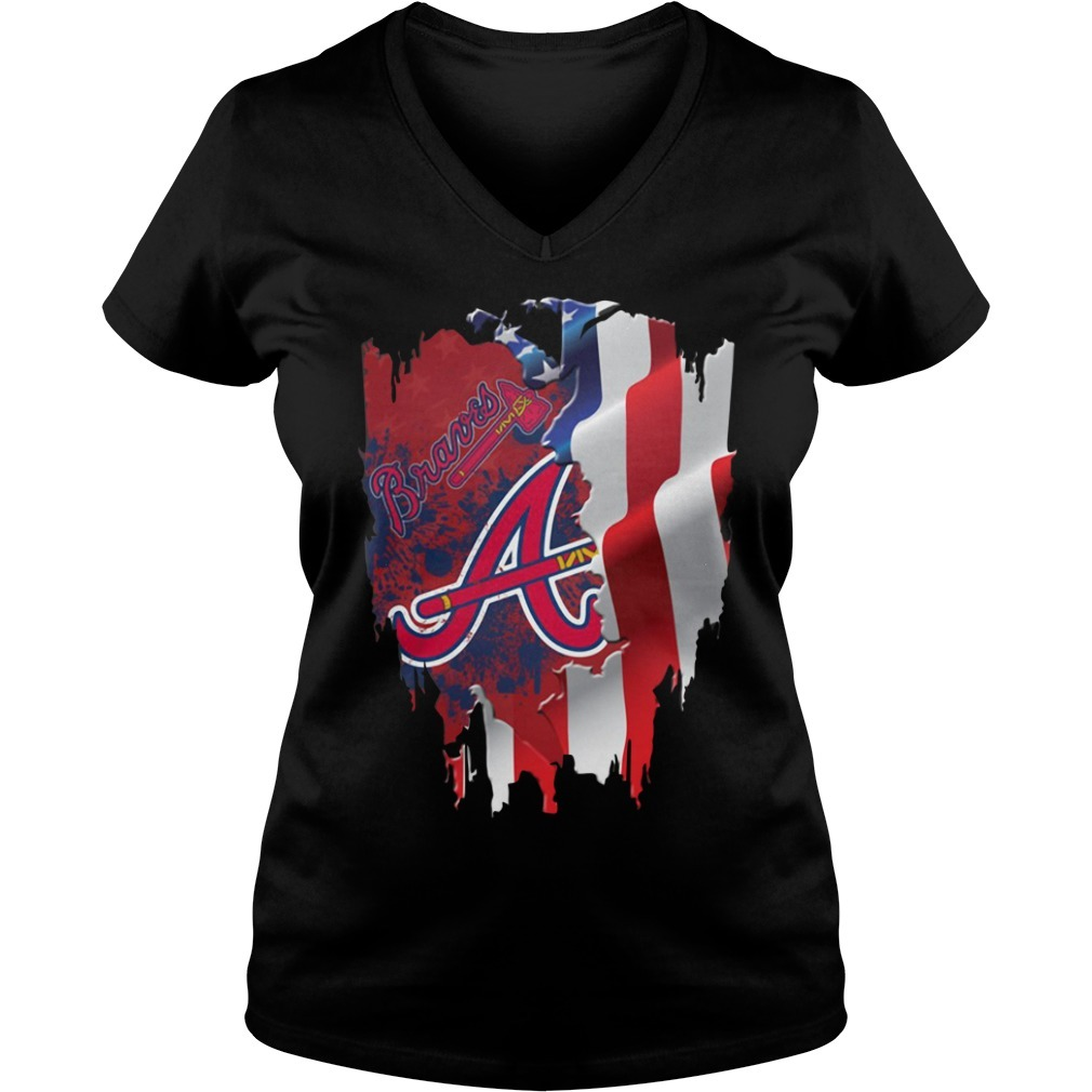 4th of July independence day Atlanta Braves V-neck T-shirt