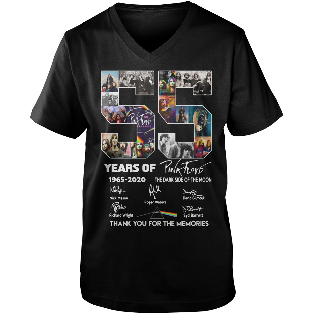 V55 Years Of Pink Floyd 1965-2020 thank you for the memories Guy V-Neck