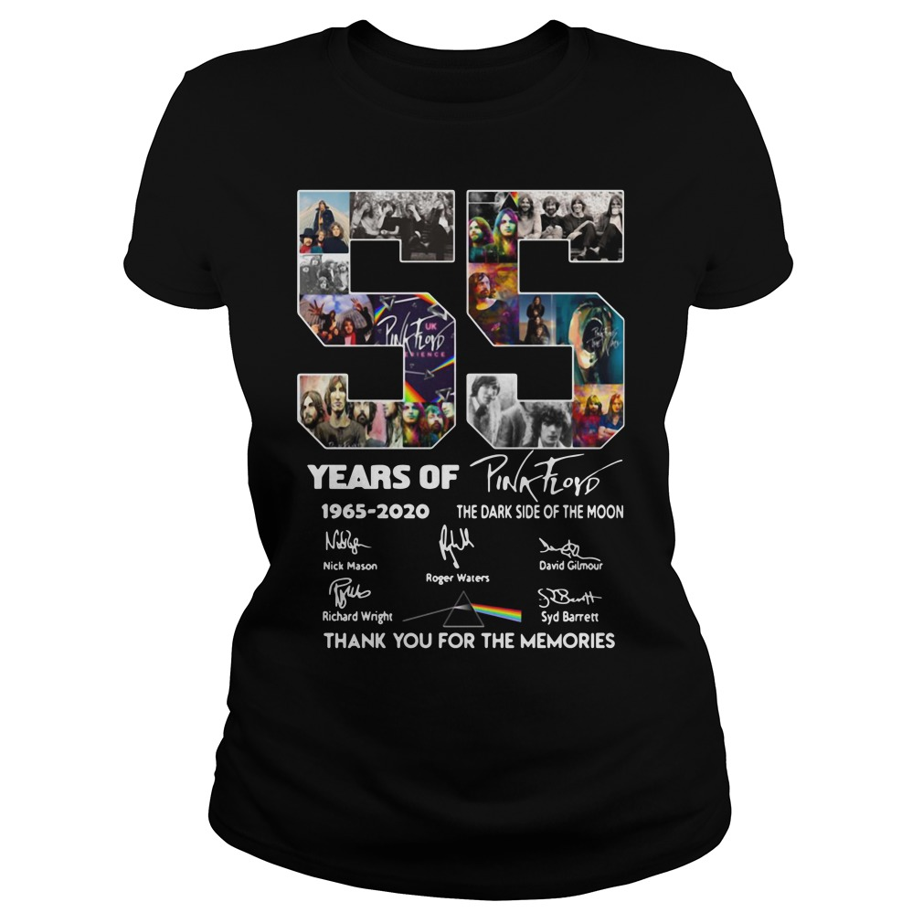 55 Years Of Pink Floyd 1965-2020 thank you for the memories Ladies Tee